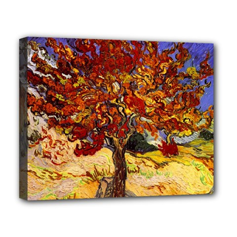Vincent Van Gogh Mulberry Tree Deluxe Canvas 20  X 16  (framed) by MasterpiecesOfArt