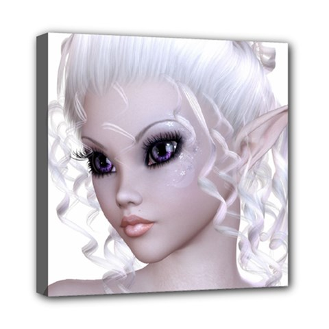 Fairy Elfin Elf Nymph Faerie Mini Canvas 8  X 8  (framed) by goldenjackal
