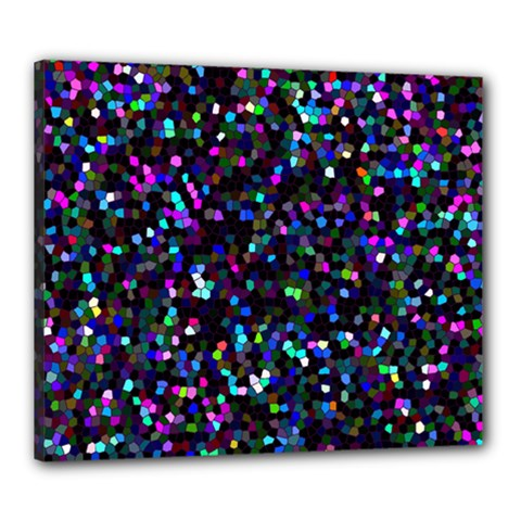 Glitter 1 Canvas 24  X 20  (framed) by MedusArt