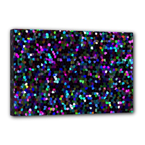 Glitter 1 Canvas 18  X 12  (framed) by MedusArt
