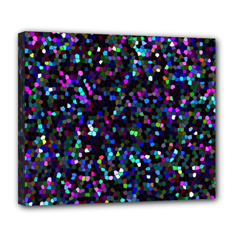 Glitter 1 Deluxe Canvas 24  X 20  (framed) by MedusArt