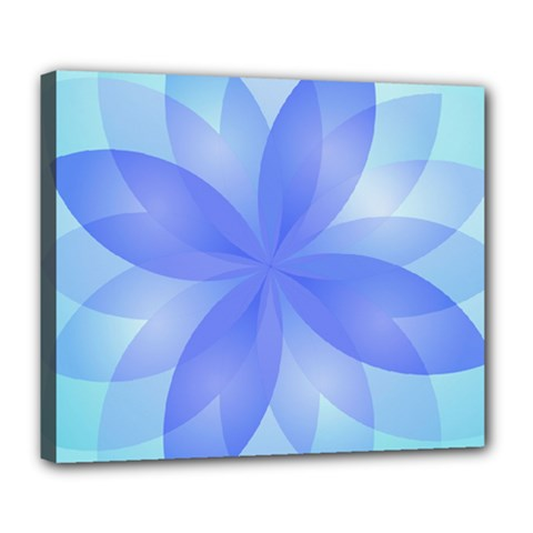 Abstract Lotus Flower 1 Deluxe Canvas 24  X 20  (framed) by MedusArt