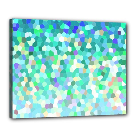 Mosaic Sparkley 1 Canvas 20  X 16  (framed) by MedusArt