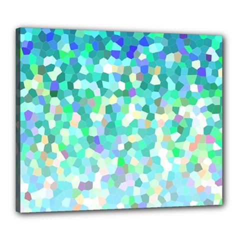 Mosaic Sparkley 1 Canvas 24  X 20  (framed) by MedusArt