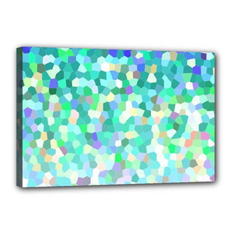 Mosaic Sparkley 1 Canvas 18  X 12  (framed) by MedusArt