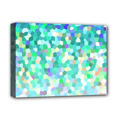 Mosaic Sparkley 1 Deluxe Canvas 16  X 12  (framed)  by MedusArt