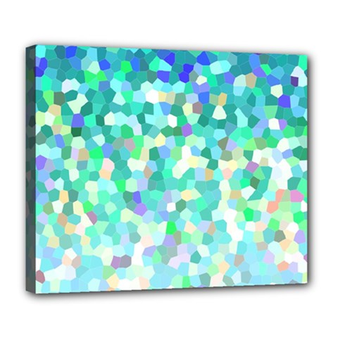 Mosaic Sparkley 1 Deluxe Canvas 24  X 20  (framed) by MedusArt