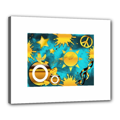 Musical Peace Canvas 20  X 16  (framed) by StuffOrSomething