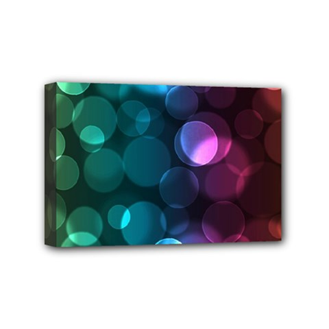 Deep Bubble Art Mini Canvas 6  X 4  (framed) by Colorfulart23