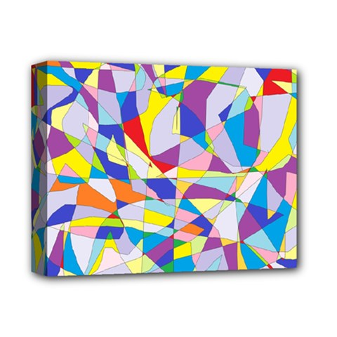 Fractured Facade Deluxe Canvas 14  X 11  (framed) by StuffOrSomething