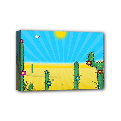 Cactus Mini Canvas 6  X 4  (framed) by NickGreenaway