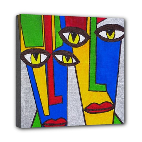 Face Mini Canvas 8  X 8  (framed) by Siebenhuehner