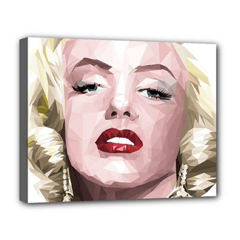 Marilyn Deluxe Canvas 20  X 16  (framed) by malobishop
