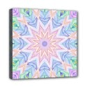 Soft Rainbow Star Mandala Mini Canvas 8  x 8  (Framed) View1