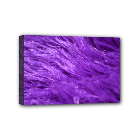 Purple Tresses Mini Canvas 6  X 4  (framed) by FunWithFibro