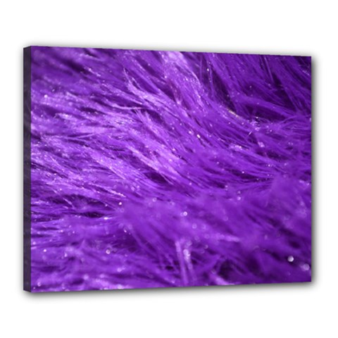 Purple Tresses Canvas 20  X 16  (framed) by FunWithFibro