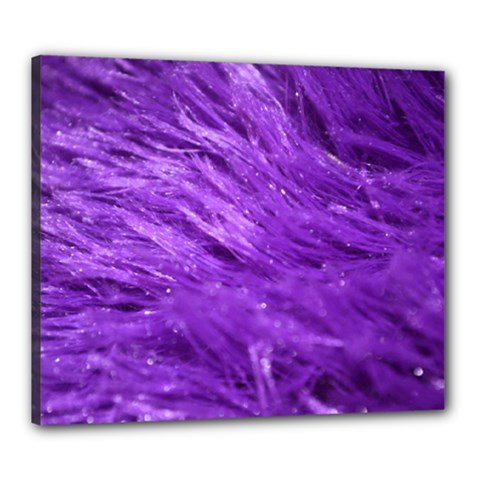 Purple Tresses Canvas 24  X 20  (framed) by FunWithFibro