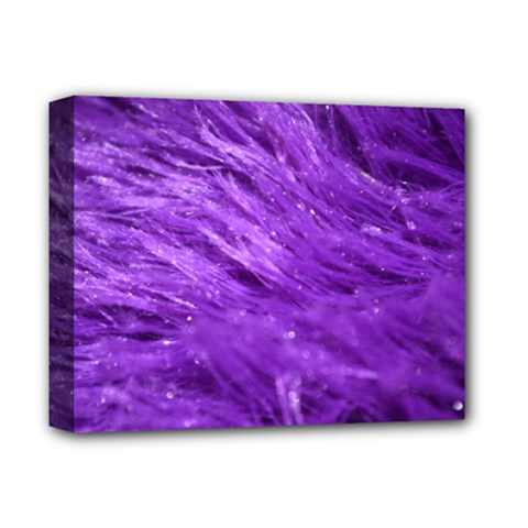 Purple Tresses Deluxe Canvas 14  X 11  (framed) by FunWithFibro