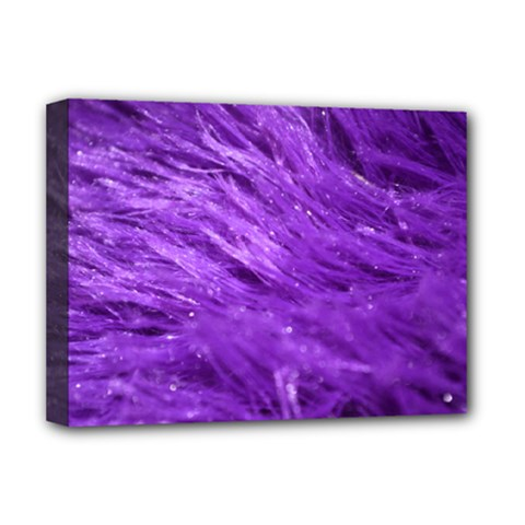 Purple Tresses Deluxe Canvas 16  X 12  (framed)  by FunWithFibro