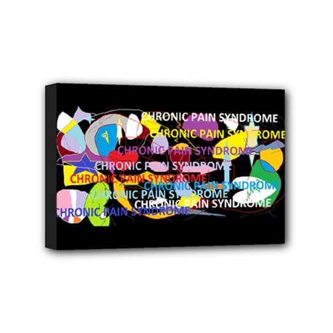 Chronic Pain Syndrome Mini Canvas 6  X 4  (framed) by FunWithFibro