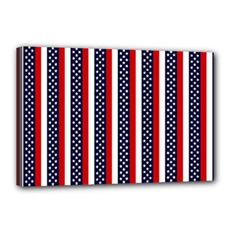Patriot Stripes Canvas 18  X 12  (framed) by StuffOrSomething