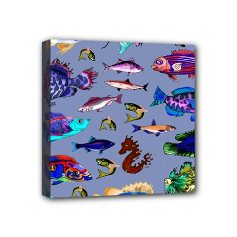 Fishy Mini Canvas 4  X 4  (framed) by Rbrendes