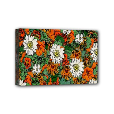 Flowers Mini Canvas 6  X 4  (framed) by Rbrendes