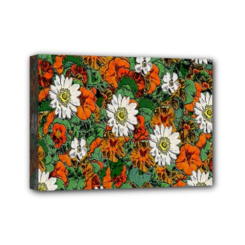 Flowers Mini Canvas 7  X 5  (framed) by Rbrendes