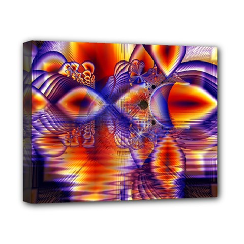 Winter Crystal Palace, Abstract Cosmic Dream Canvas 10  X 8  (stretched) by DianeClancy