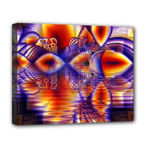 Winter Crystal Palace, Abstract Cosmic Dream Deluxe Canvas 20  X 16  (stretched) by DianeClancy