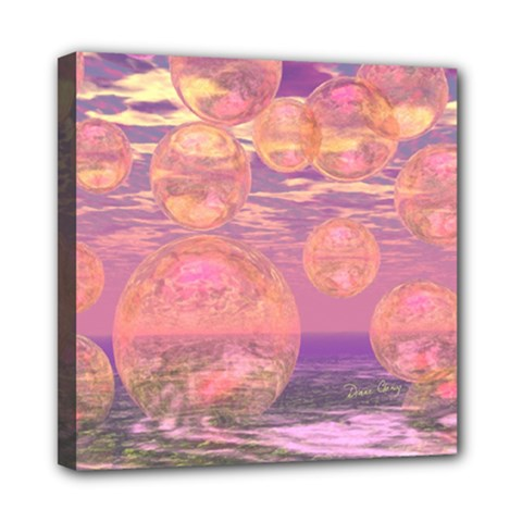 Glorious Skies, Abstract Pink And Yellow Dream Mini Canvas 8  X 8  (framed) by DianeClancy