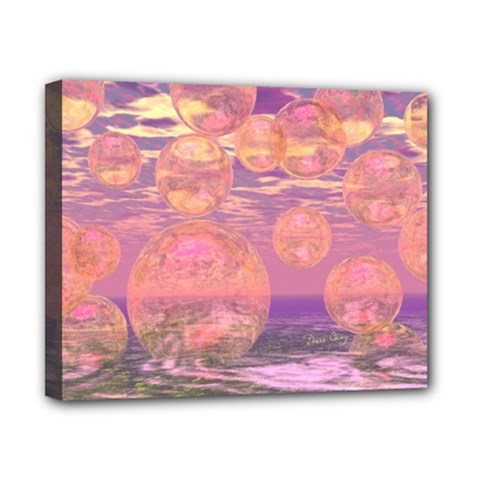 Glorious Skies, Abstract Pink And Yellow Dream Canvas 10  X 8  (framed) by DianeClancy