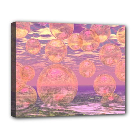 Glorious Skies, Abstract Pink And Yellow Dream Deluxe Canvas 20  X 16  (framed) by DianeClancy