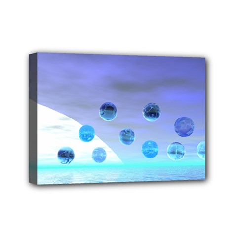 Moonlight Wonder, Abstract Journey To The Unknown Mini Canvas 7  X 5  (framed) by DianeClancy