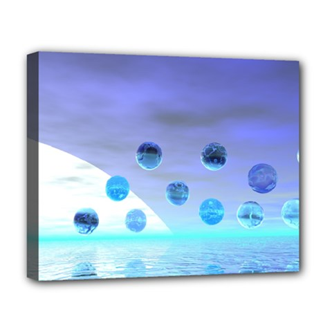 Moonlight Wonder, Abstract Journey To The Unknown Deluxe Canvas 20  X 16  (framed) by DianeClancy