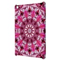 Twirling Pink, Abstract Candy Lace Jewels Mandala  Apple iPad Mini Hardshell Case View3