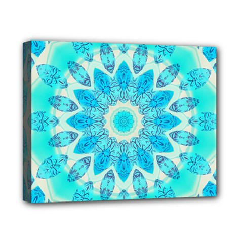 Blue Ice Goddess, Abstract Crystals Of Love Canvas 10  X 8  (framed) by DianeClancy