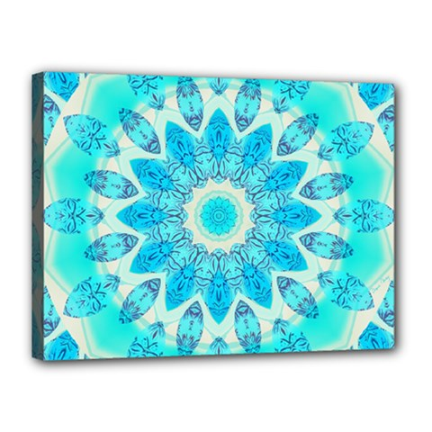 Blue Ice Goddess, Abstract Crystals Of Love Canvas 16  X 12  (framed) by DianeClancy