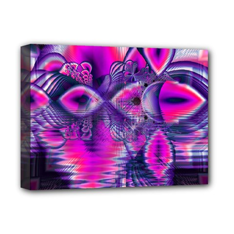 Rose Crystal Palace, Abstract Love Dream  Deluxe Canvas 16  X 12  (framed)  by DianeClancy