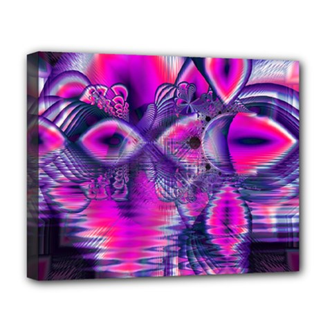 Rose Crystal Palace, Abstract Love Dream  Deluxe Canvas 20  X 16  (framed) by DianeClancy