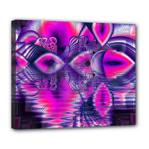 Rose Crystal Palace, Abstract Love Dream  Deluxe Canvas 24  X 20  (framed) by DianeClancy