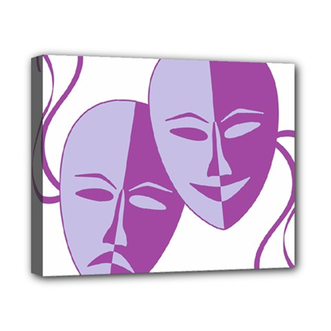 Comedy & Tragedy Of Chronic Pain Canvas 10  X 8  (framed) by FunWithFibro