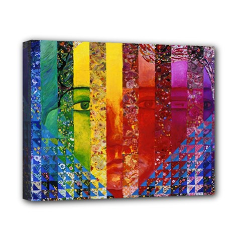 Conundrum I, Abstract Rainbow Woman Goddess  Canvas 10  X 8  (framed) by DianeClancy