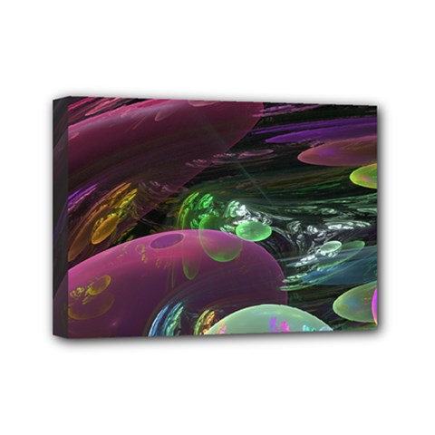 Creation Of The Rainbow Galaxy, Abstract Mini Canvas 7  X 5  (framed) by DianeClancy