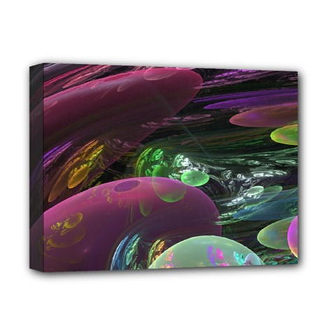 Creation Of The Rainbow Galaxy, Abstract Deluxe Canvas 16  X 12  (framed)  by DianeClancy