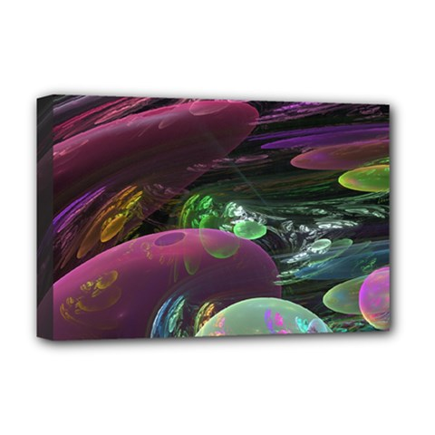 Creation Of The Rainbow Galaxy, Abstract Deluxe Canvas 18  X 12  (framed) by DianeClancy