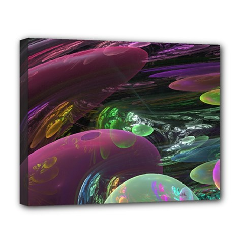 Creation Of The Rainbow Galaxy, Abstract Deluxe Canvas 20  X 16  (framed) by DianeClancy