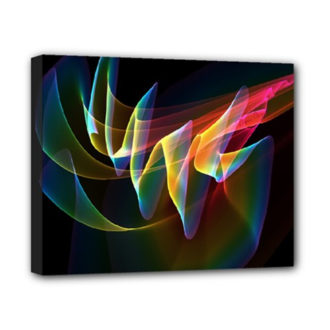 Northern Lights, Abstract Rainbow Aurora Canvas 10  X 8  (framed) by DianeClancy