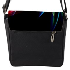 Northern Lights, Abstract Rainbow Aurora Flap Closure Messenger Bag (small) by DianeClancy