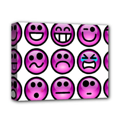Chronic Pain Emoticons Deluxe Canvas 14  X 11  (framed) by FunWithFibro